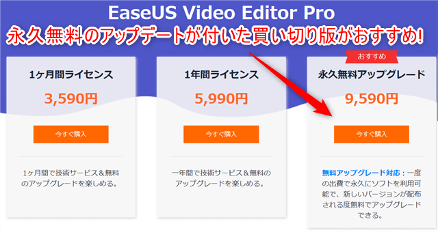 EaseUS-Video-Editor-Pro版3種